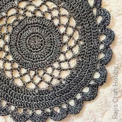 Lacy Doily Tablemat  Free Crochet Pattern