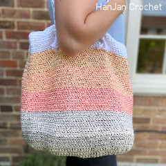 Summer Stripe Beach Bag Free Crochet Pattern