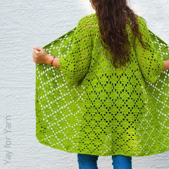 Diamond Cardigan Free Crochet Pattern