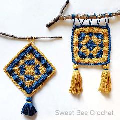 Granny Bobble Wall Hanging Free Crochet Pattern