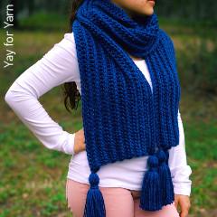 Knit-Look Crochet Scarf Free Crochet Pattern