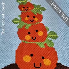 Pumpkin Tower Afghan Free Crochet Pattern