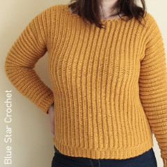 Sideways Jumper Free Crochet Pattern