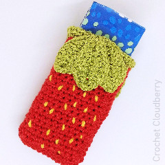 Strawberry Crochet Tissue Holder Free Crochet Pattern