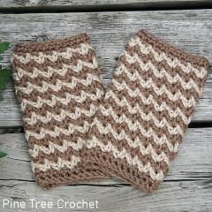 Autumn Crunch Fingerless Gloves Free Crochet Pattern