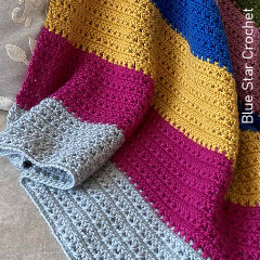 Cottage Blanket Free Crochet Pattern