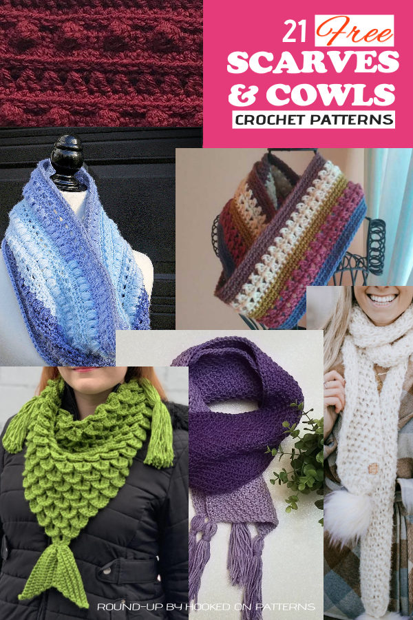 Free Scarves and Cowls Crochet Patterns Main Pin