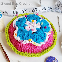 Happy Flower Pin Cushion Free Crochet Pattern