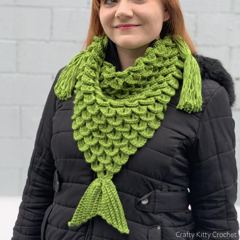 Mermaid Scarf Free Crochet Pattern