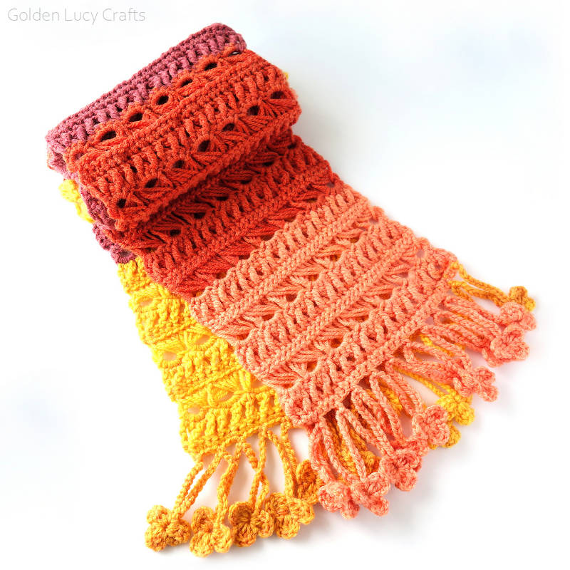 Sunset Flame Scarf Free Crochet Pattern