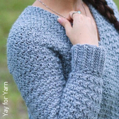 Textured Pullover Free Crochet Pattern
