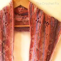 Triangle Lace Infinity Free Crochet Pattern