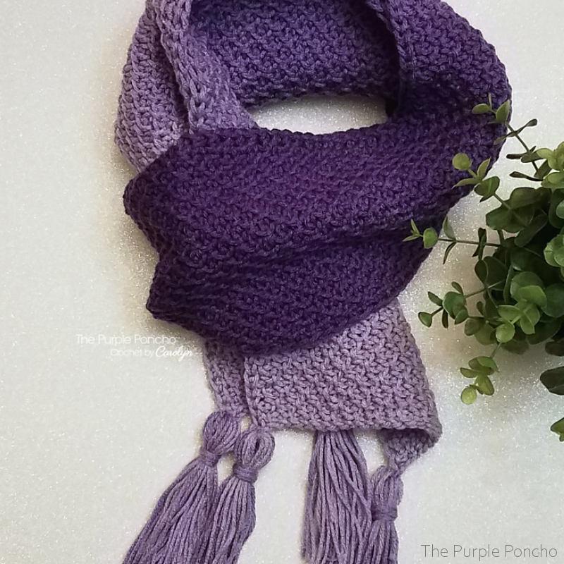 Tunisian Ombre Scarf Free Crochet Pattern