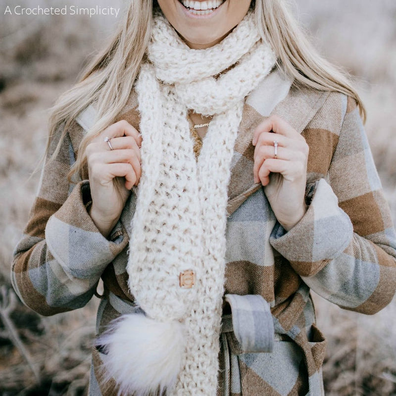 Winter's Edge Scarf Free Crochet Pattern