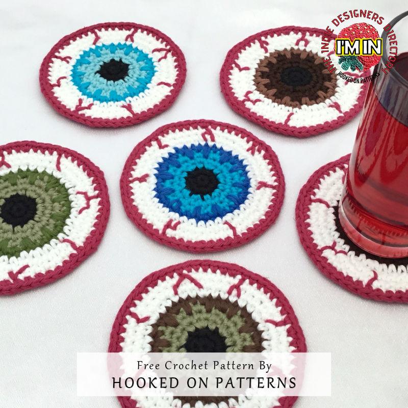 Eyeball Coasters Free Crochet Pattern