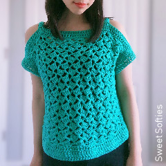 Cabana Cold Shoulder Top Free Crochet Pattern