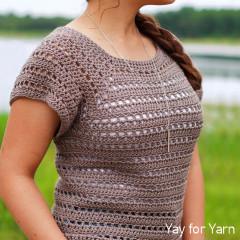 Driftwood Tee Free Crochet Pattern