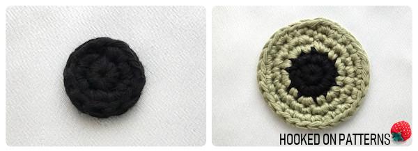 Free Eyeball Coasters Crochet Pattern Round 1-5