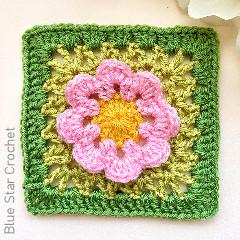 Flower Power Granny Square Free Crochet Pattern