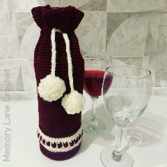Christmas Wine Cosy Free Crochet Pattern