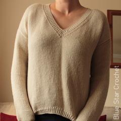Tunisian Pullover Free Crochet Pattern