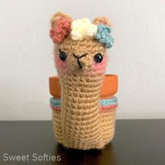 Alpaca Planter Free Crochet Pattern