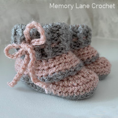 Slouch Baby Booties Free Crochet Pattern