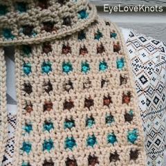 Through the Window Scarf Free Crochet Pattern