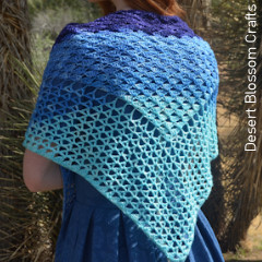 Wave Shawl Free Crochet Pattern