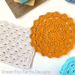 April Showers Dish Cloths Free Crochet Pattern