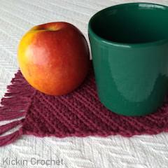 Diagonal Mug Rug Free Crochet Pattern
