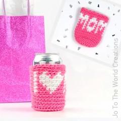 I Heart Mom Can Cozy Free Crochet Pattern