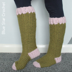 Lake Cabin Socks Free Crochet Pattern