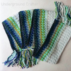 Ocean Fade Scarf Free Crochet Pattern