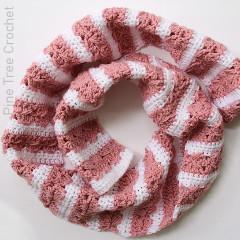 Sweetheart Spike Scarf Free Crochet Pattern