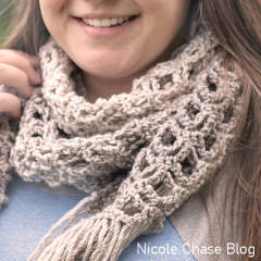 A thumbnail photo of the Cloudy Day Lace Scarf free crochet pattern