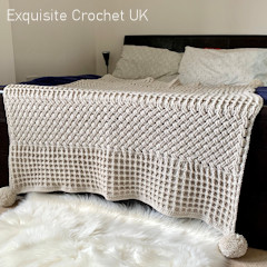 A thumbnail photo of the Marks In The Snow Throw free crochet pattern