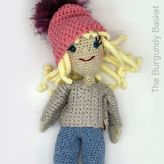 Thumbnail image of the Delaney Doll free crochet pattern