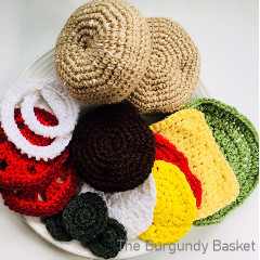 A thumbnail photo of the Hamburger and Sandwich free crochet pattern