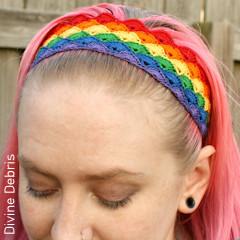 Thumbnail image of the Janice Headband free crochet pattern