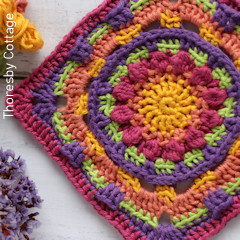 Thumbnail image of the Namaqualand Granny Square free crochet pattern