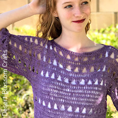 Thumbnail image of the Shelby Top free crochet pattern