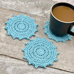 Thumbnail image of the Quinnley Coaster free crochet pattern