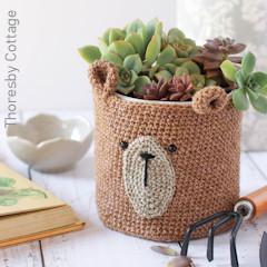 Thumbnail image of the Teddy Bear Planter free crochet pattern