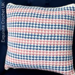 Thumbnail image of the Tunisian Modwen Cushion free crochet pattern