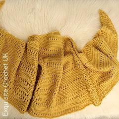 Thumbnail image of the Missing Holiday Sun Shawl free Tunisian crochet pattern