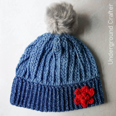 Thumbnail image of the Power Walk in the Park Slouchy Beanie free crochet pattern