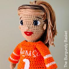 Thumbnail image of the Sammy Doll free crochet pattern