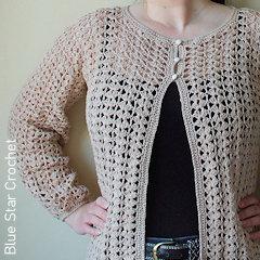 Thumbnail image of the Selene Cardigan free crochet pattern