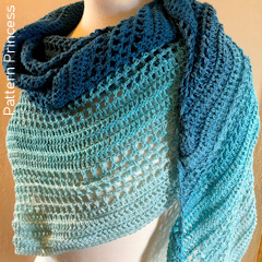 Thumbnail image of the Summer Breeze Triangle Shawl free crochet pattern